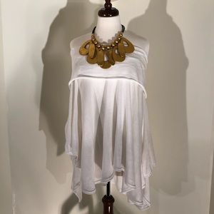 Ashley Stewart White Stunning Poncho